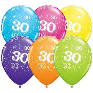 Ballonnen 30 jaar Qualatex 25 stuks