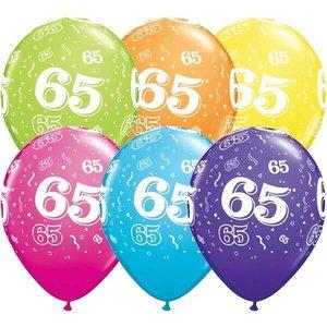 Ballonnen 65 jaar Qualatex 25 stuks