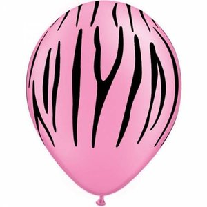 Ballonnen zebra pink 5 stuks