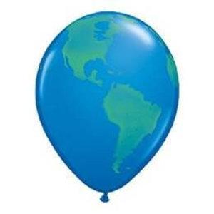 Ballonnen wereldbol 5 stuks