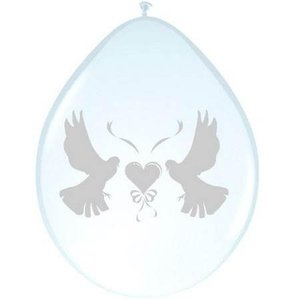 Ballon duiven transparant 5 stuks