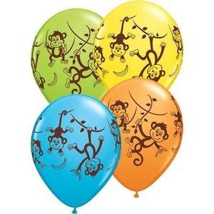 Ballon tropische aapjes 5 stuks