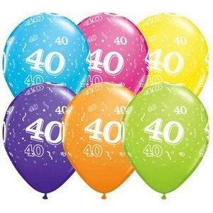 Ballonnen 40 jaar Qualatex 25 stuks