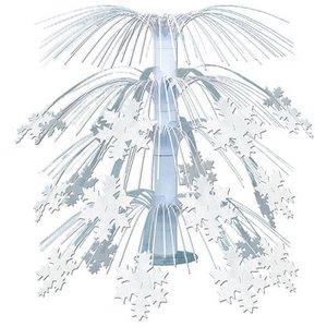 Tafeldecoratie met sneeuwvlokken luxe