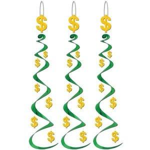 Hangdecoratie Whirls Dollar