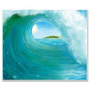 Muurposter Tropical Surf Wave