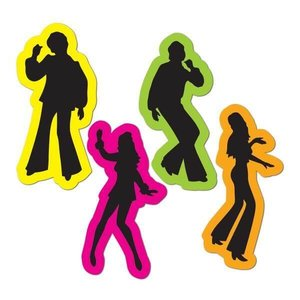 Decoratie Disco Silhouettes