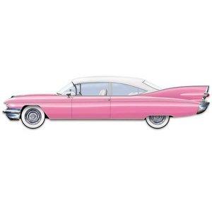 Decoratie Cadillac pink JUMBO