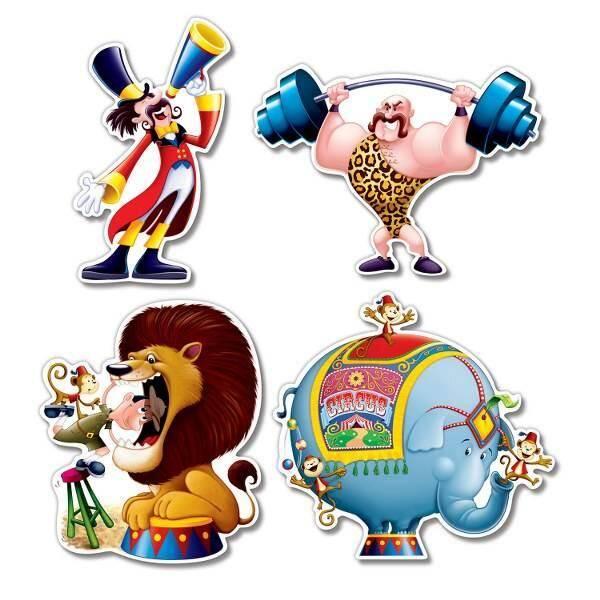 Kinderfeestje met circus decoraties