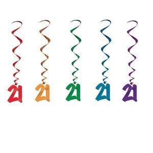 Hangdecoratie Whirls 21 jaar