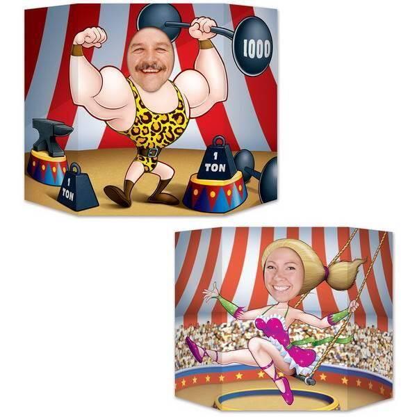 Kinderfeestje met circus selfie decor
