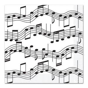 Servetten muzieknoten