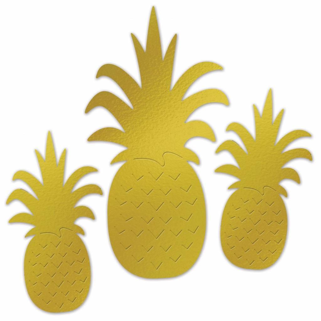 Decoratie Ananas 3 stuks