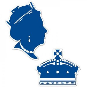 Decoraties Queen of England Silhouettes