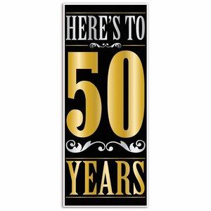 Deurposter 50 jaar stijlvol