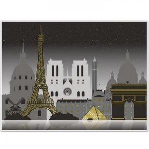 Muurposter Parijs groot