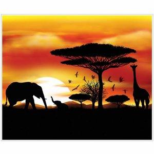 Muurposter Safari dieren