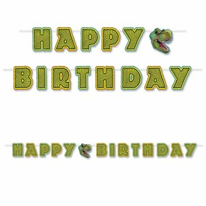 Letterslinger Dinosaurus Happy Birthday