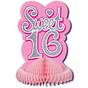Sweet Sixteen tafeldecoratie pink