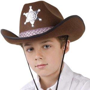 Cowboyhoed kind vilt bruin