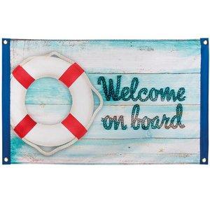 Gevelvlag Welcome on Board