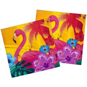 Servetten Flamingo Hawaii