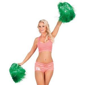 Cheerleader pompon luxe groen per stuk