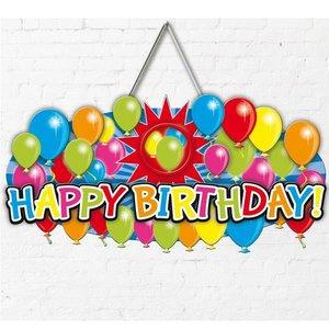 Deurbord Happy Birthday persoonlijk
