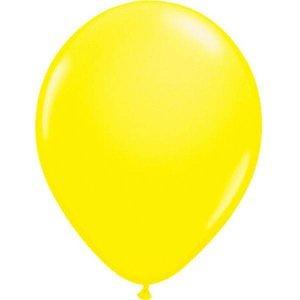 Fluor ballonnen geel 8 stuks