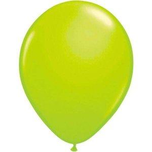 Fluor ballonnen groen 8 stuks