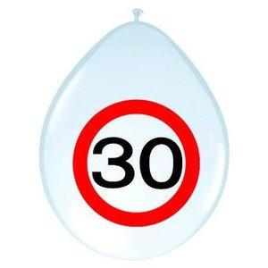 Ballonnen 30 jaar verkeersbord