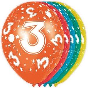 3 jaar ballonnen rondom bedrukt