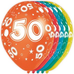 Ballonnen 50 jaar rondom bedrukt