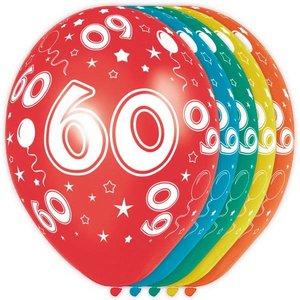 Ballonnen 60 jaar rondom bedrukt