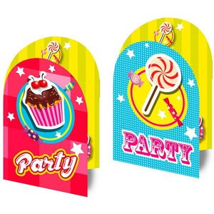 Uitnodigingskaartjes Sweet Party