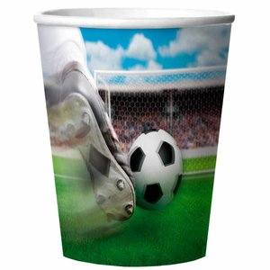 Voetbal bekertjes 3D kunststof luxe