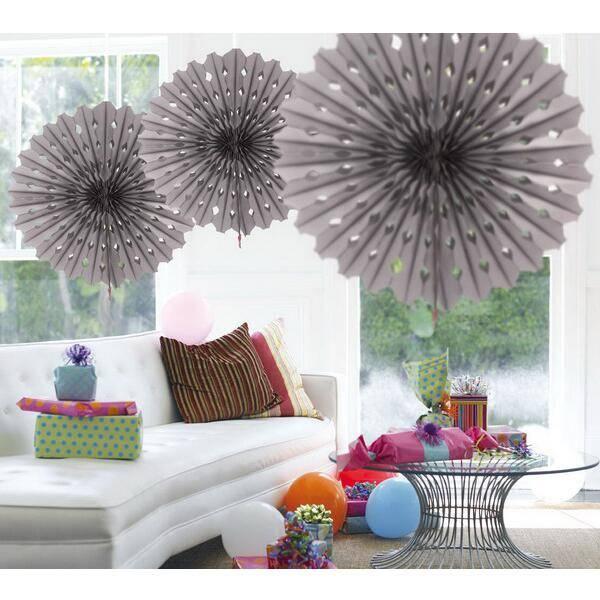 Honeycomb decoraties waaier zilverkleurig