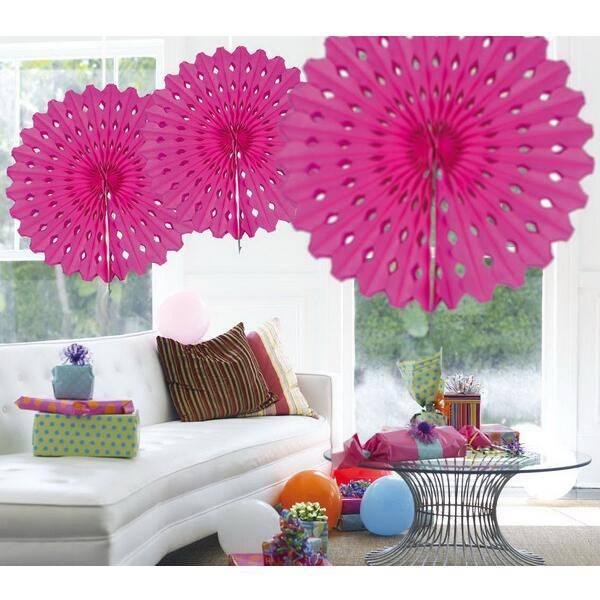 Honeycomb decoraties roze