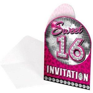 Sweet 16 uitnodigingskaartjes
