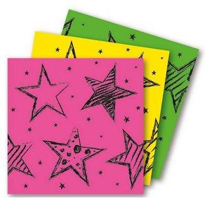 Servetten Neon met sterren