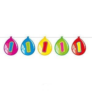 Slinger 1 jaar bedrukt op decoratieballonnen