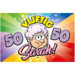 Wanddecoratie 50 jaar Sarah Rainbow 3D