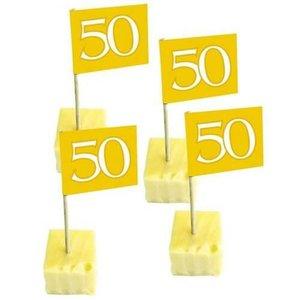 Prikkers 50 jaar goudkleurig 50 stuks