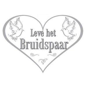 Deurbord hart Leve het bruidspaar
