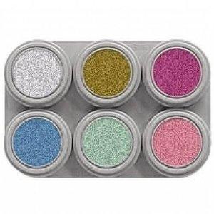 Grimas schmink 6 kleuren palet pearl