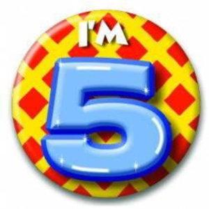 5 jaar button