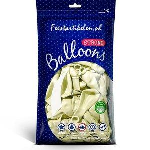 Metallic ballonnen crème 100 stuks