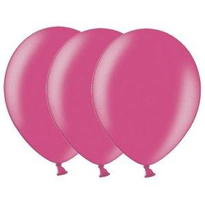Metallic ballonnen donkerroze 20 stuks