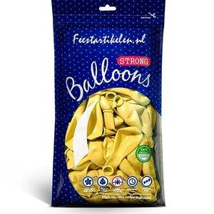 Metallic ballonnen geel 100 stuks