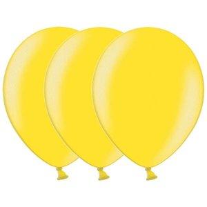 Metallic ballonnen geel 20 stuks